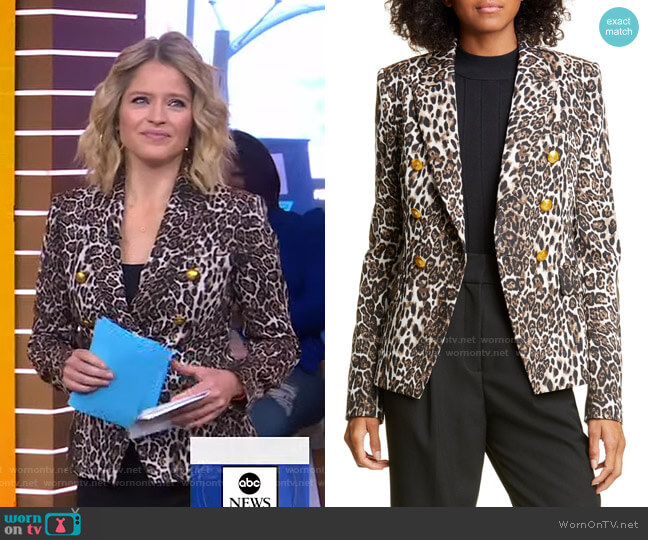 Alton Leopard Print Jacket by A.L.C. worn by Sara Haines  on Good Morning America