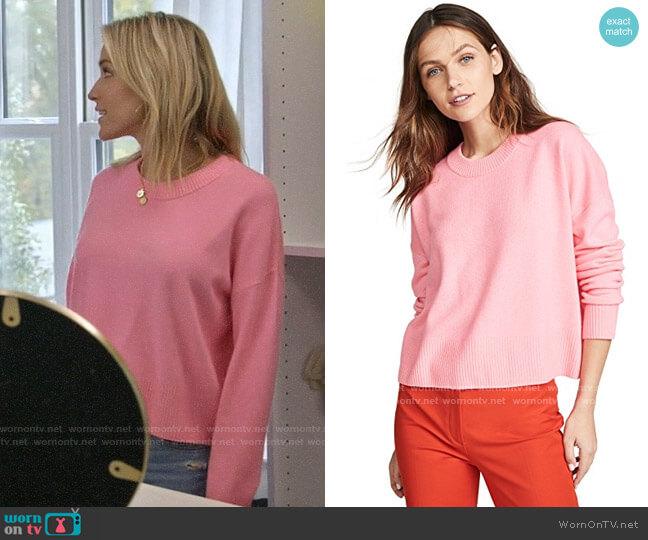 ALC Dilone Sweater in Neon Coral worn by Kristin Cavallari  on Very Cavallari