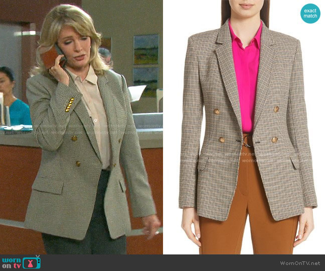 ALC Sedgwick Check Blazer worn by Marlena Evans (Deidre Hall) on Days of our Lives