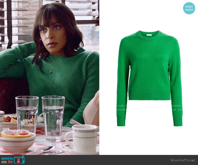ALC Wooster Sweater worn by Edie Palmer (Megalyn Echikunwoke) on Almost Family