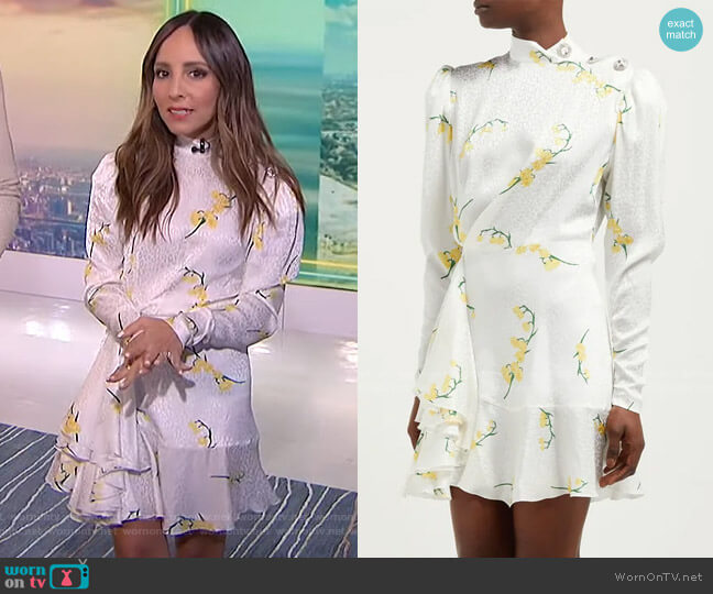 Floral-Print Mini Dress by Alessandra Rich worn by Lilliana Vazquez  on E! News