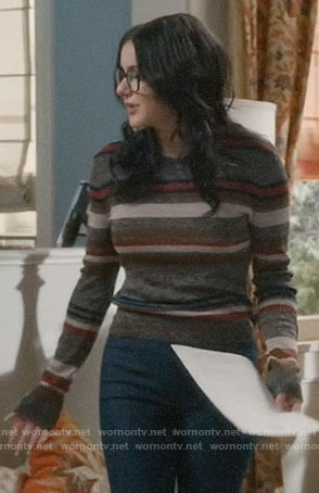 Alex's multi color striped sweater on Modern Family