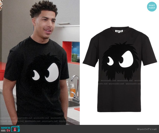 McQ Alexander McQueen Chester Monster T-shirt worn by Andre Johnson Jr (Marcus Scribner) on Blackish