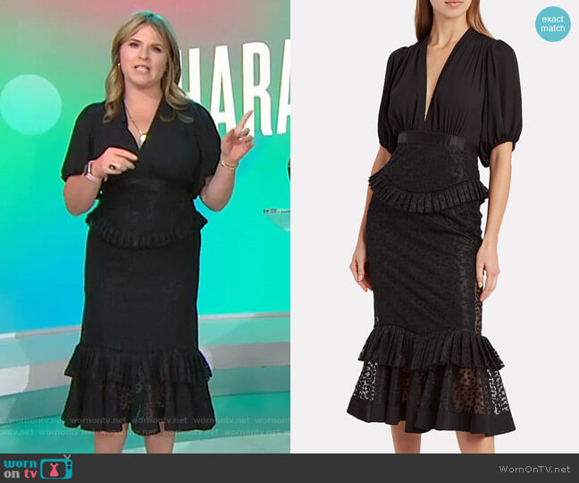 Dilarra Dress by Alexis worn by Jenna Bush Hager  on Today