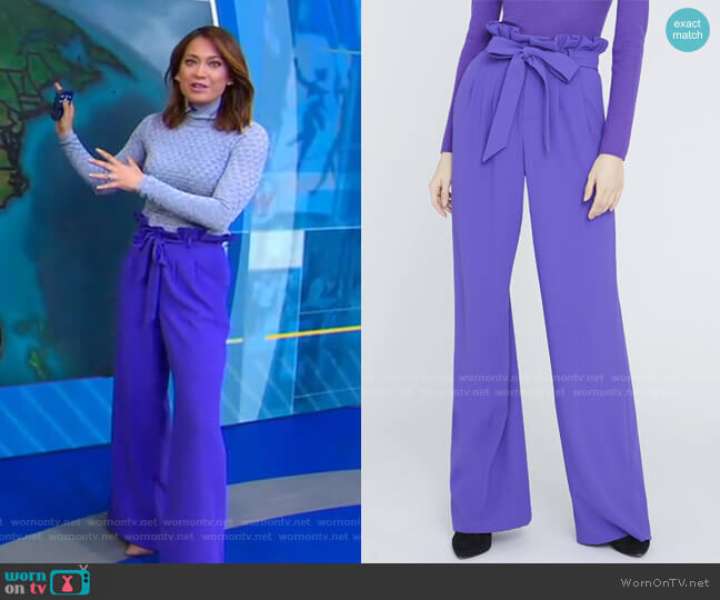Farrel Pants by Alice + Olivia worn by Ginger Zee  on Good Morning America