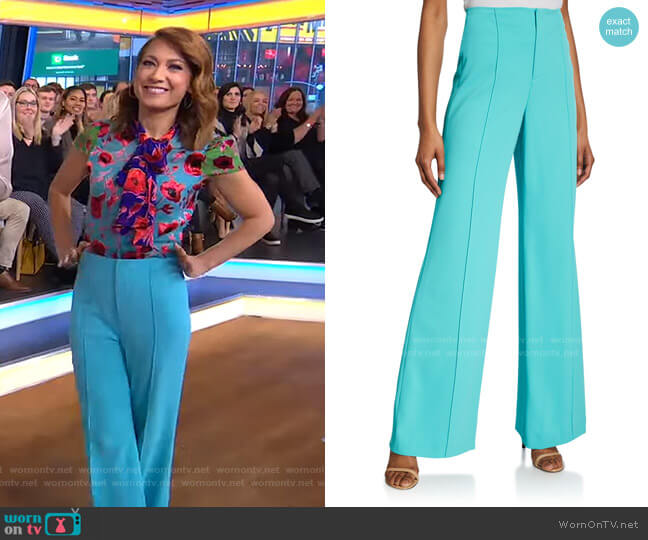 Dylan Pants by Alice + Olivia worn by Ginger Zee  on Good Morning America