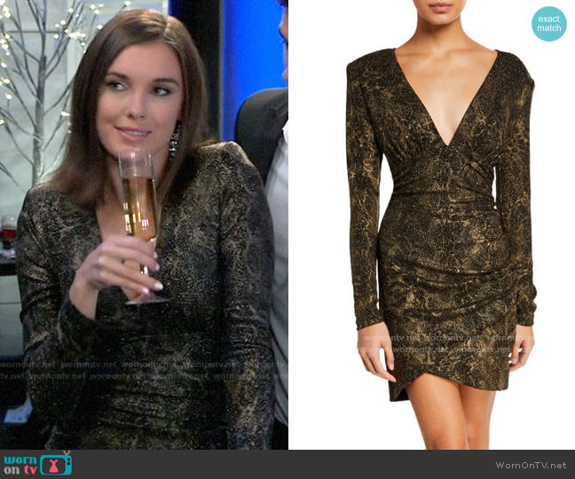Alice + Olivia Diaz Dress worn by Willow Tait (Katelyn MacMullen) on General Hospital