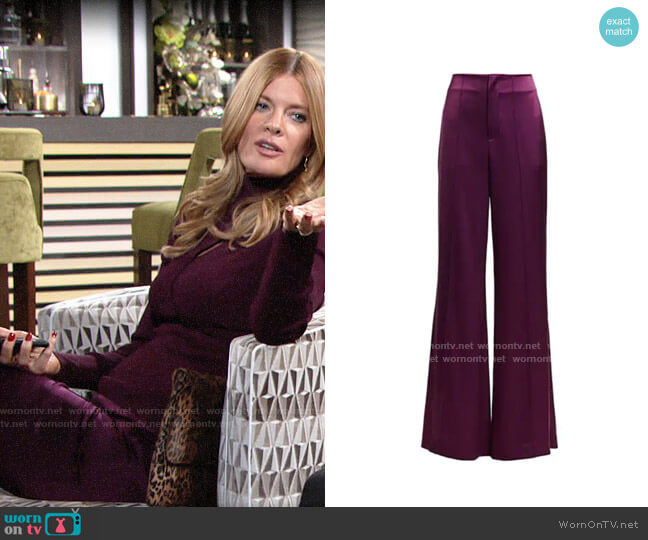 Alice + Olivia Dylan Pants worn by Phyllis Summers (Michelle Stafford) on The Young & the Restless