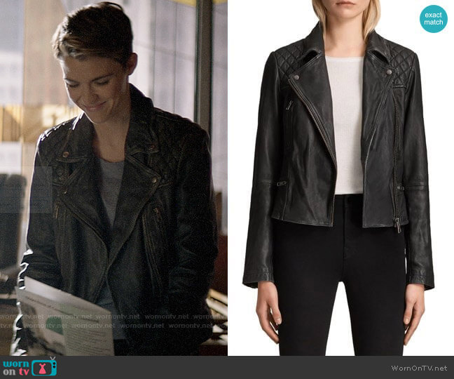 All Saints Cargo Leather Biker Jacket worn by Kate Kane (Ruby Rose) on Batwoman