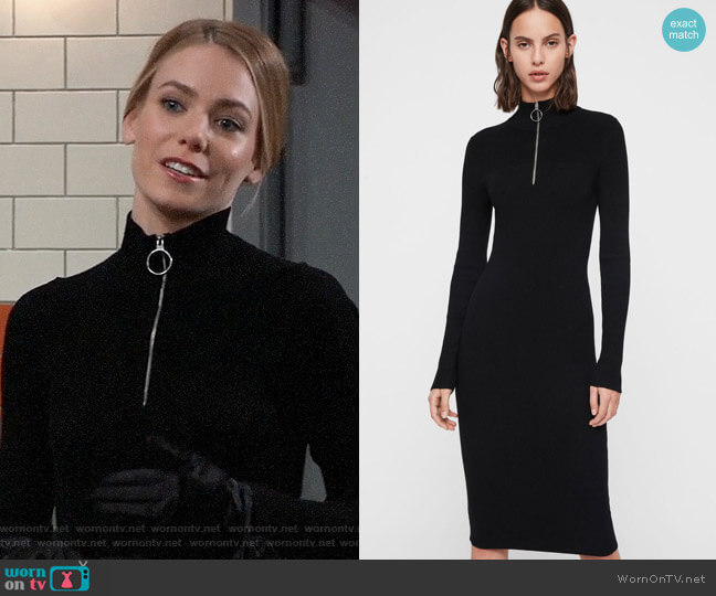 All Saints Lacey Dress worn by Nelle Benson (Chloe Lanier) on General Hospital