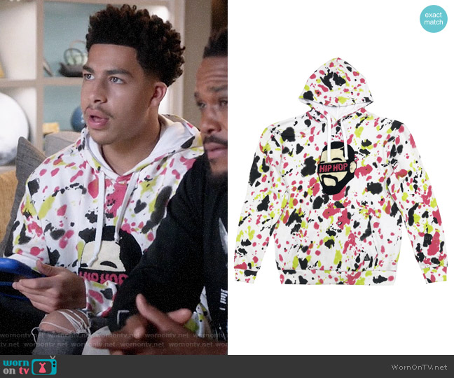 American Stitch Tye Dye Patch Hoodie worn by Andre Johnson Jr (Marcus Scribner) on Blackish