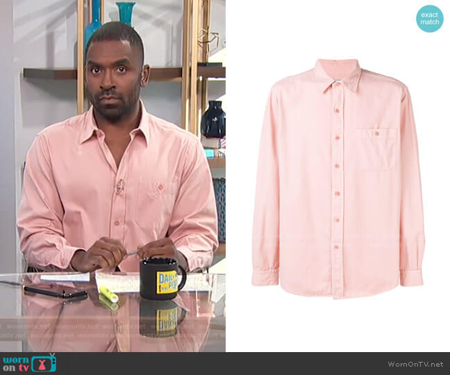 Classic-Fit Shirt by Ami Paris worn by Justin Sylvester  on E! News