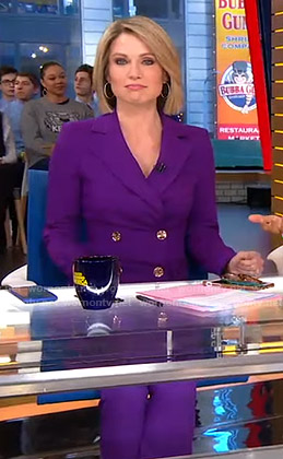 Amy's purple suit on Good Morning America