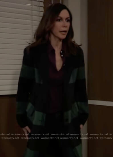 Anna's green checked coat on General Hospital