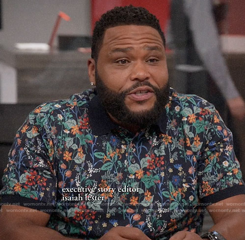 Andre's floral polo shirt on Black-ish