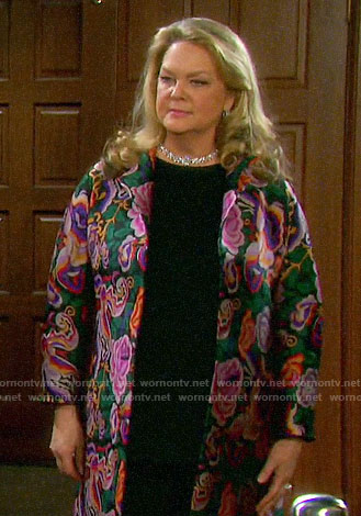 Anna's floral jacquard jacket on Days of our Lives