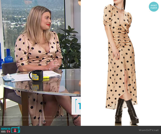 Suki Ruched Midi Dress by AFRM worn by Carissa Loethen Culiner  on E! News