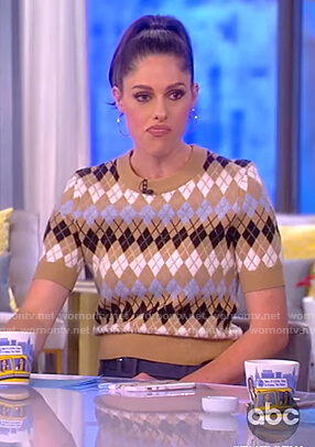 Abby's argyle short sleeve sweater on The View