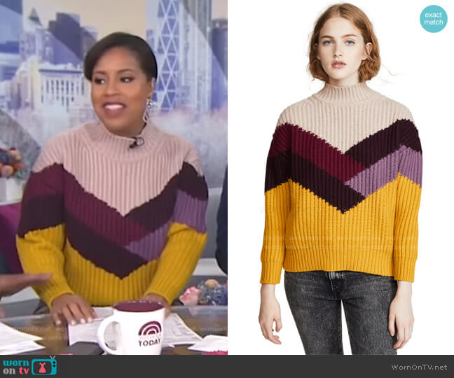 Orlando Sweater by Ba&Sh worn by Sheinelle Jones  on Today