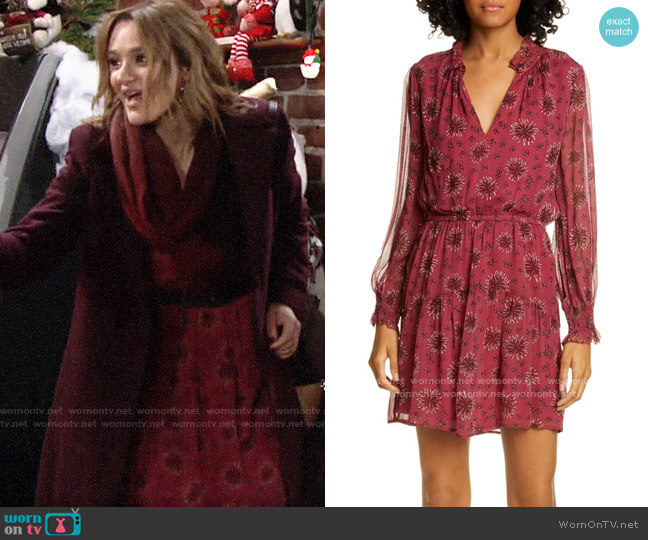 ba&sh Gizel Dress worn by Summer Newman (Hunter King) on The Young & the Restless