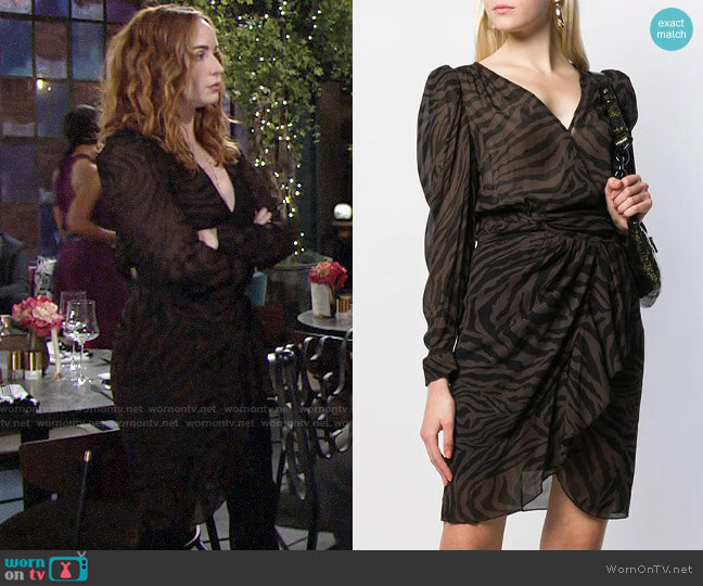 ba&sh Saphir Dress worn by Mariah Copeland (Camryn Grimes) on The Young & the Restless