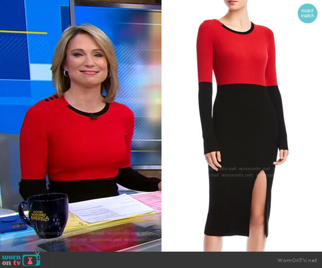 Lenna Sweater Dress by Bailey 44 worn by Amy Robach  on Good Morning America