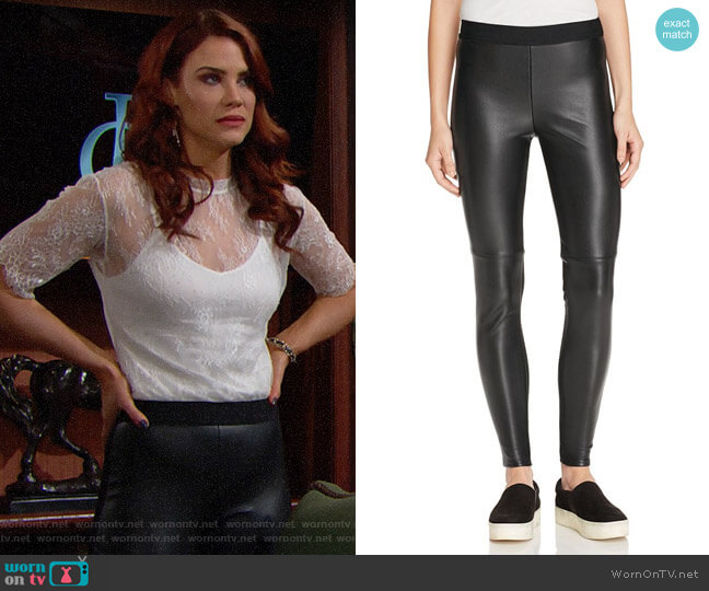 Bailey 44 Stevie Leather Leggings worn by Sally Spectra (Courtney Hope) on The Bold & the Beautiful