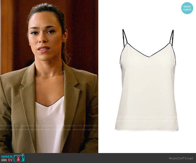 Banana Republic Strappy Camisole with Piping worn by Emily Lopez (Jessica Camacho) on All Rise