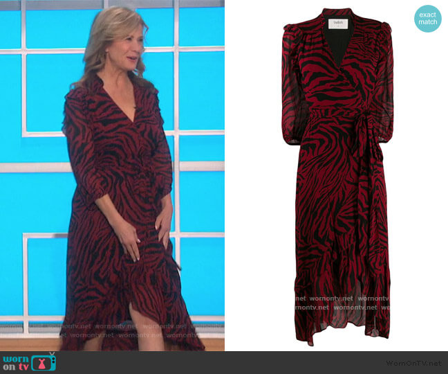 Zebra Print Wrap Dress by Ba&sh by Nancy Travis on The Talk