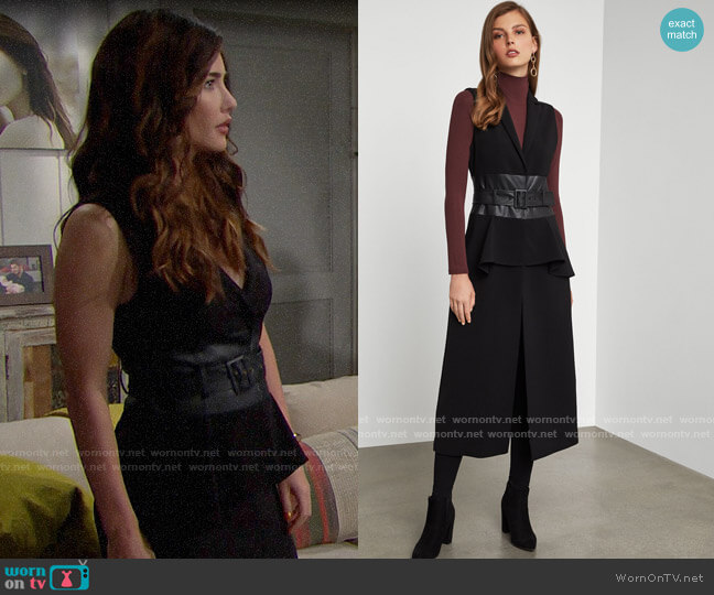 Bcbgmaxazria Long Vest worn by Steffy Forrester (Jacqueline MacInnes Wood) on The Bold & the Beautiful