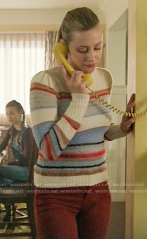 Betty's mixed stripe sweater on Riverdale