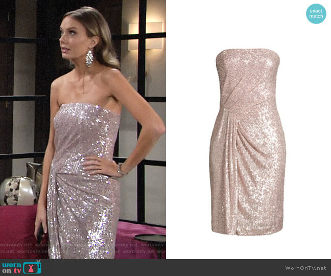 Black Halo Domino Sequin Dress worn by Abby Newman (Melissa Ordway) on The Young & the Restless