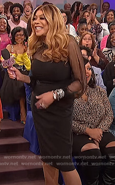 Wendy's black sheer dress on The Wendy Williams Show