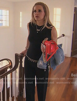 Jackie's black jumpsuit on The Real Housewives of New Jersey