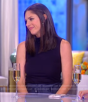 Abby's black sleeveless top on The View