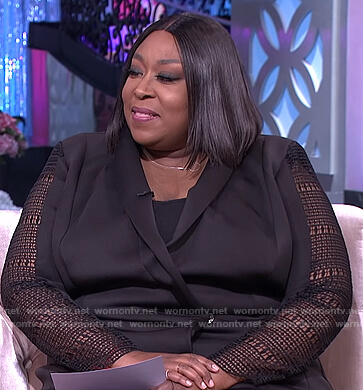 Loni's black tuxedo dress on The Real