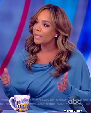 Sunny's blue drape sweater on The View