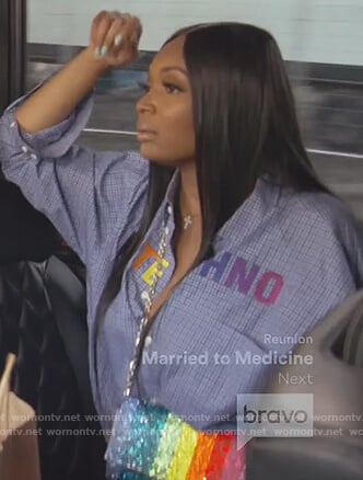 Marlo Hampton's Love Techno shirt on The Real Housewives of Atlanta