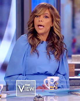 Sunny's blue long sleeve midi dress on The View