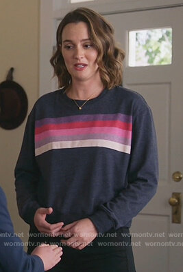 Angie's blue stripe sweatshirt on Single Parents