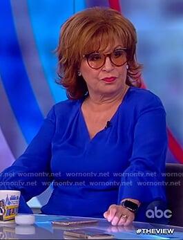 Joy's blue v-neck blouse on The View