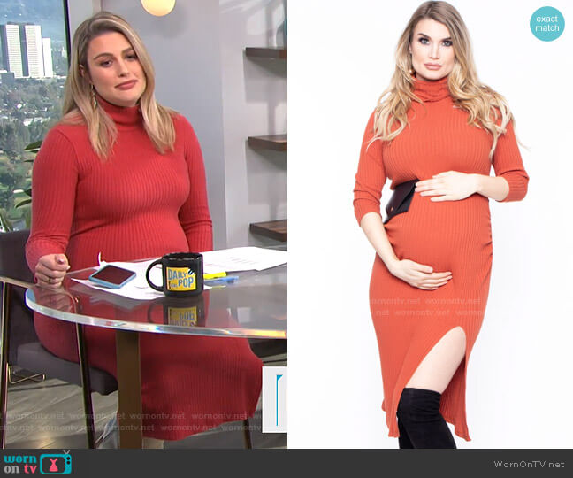 Bethany Turtleneck Dress by Bump Biddy worn by Carissa Loethen Culiner  on E! News
