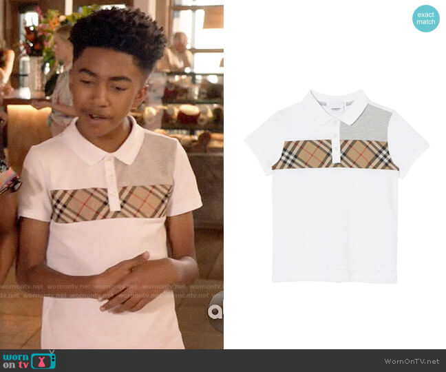 Burberry Jeff Polo worn by Jack Johnson (Miles Brown) on Blackish
