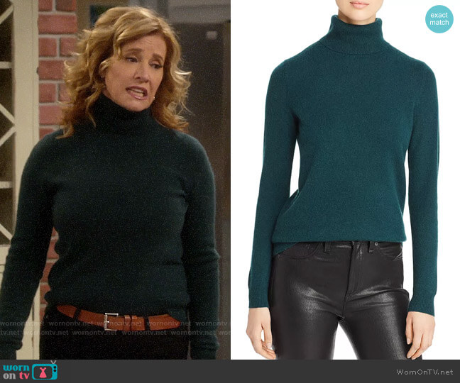 C by Bloomingdales Cashmere Turtleneck Sweater worn by Vanessa Baxter (Nancy Travis) on Last Man Standing