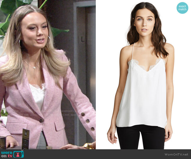 Cami NYC The Racer Top worn by Abby Newman (Melissa Ordway) on The Young & the Restless