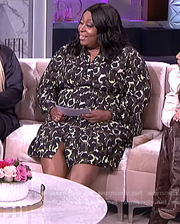 Loni's camo print shirtdress on The Real