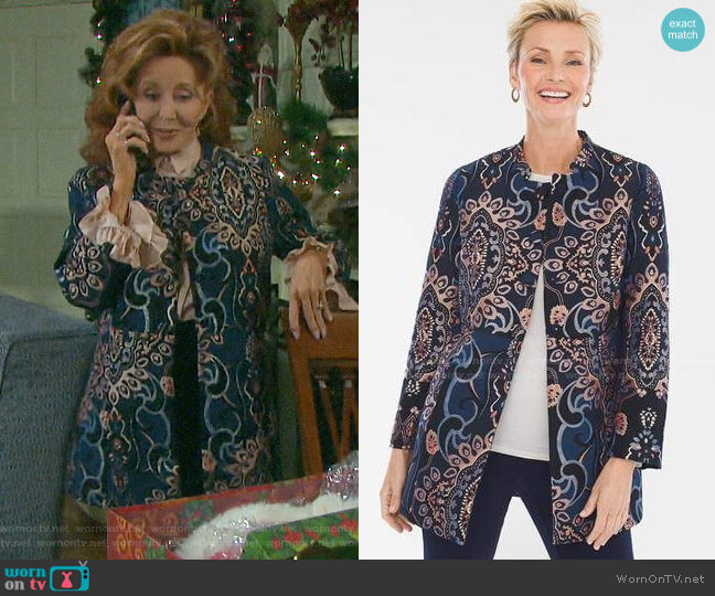 Chicos Jacquard Jacket worn by Maggie Horton (Suzanne Rogers) on Days of our Lives