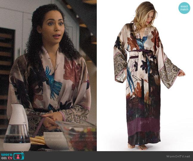 Christine Lingerie Phoenix Robe worn by Macy Vaughn (Madeleine Mantock) on Charmed