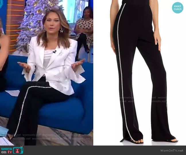 Yumi Pants by Cinq a Sept worn by Ginger Zee  on Good Morning America