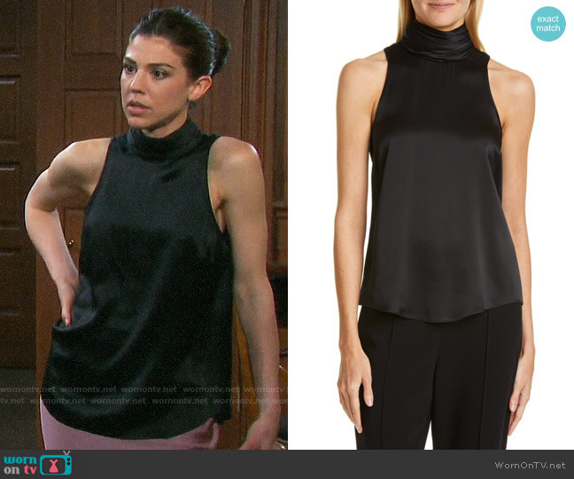 Cinq a Sept Jazlyn Top worn by Abigail Deveraux (Kate Mansi) on Days of our Lives